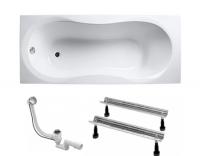 Комплекты сантехники Комплект KOLLER POOL Ванна Malibu 160х70 + ножки WBW0001 + сифон A55К