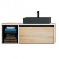 Мебель для ванной комнаты Шкафчик с умывальником DEVIT UP 0122120L 100 (раковина черная)