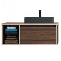 Мебель для ванной комнаты Шкафчик с умывальником DEVIT UP 0122120N 100 (раковина черная)