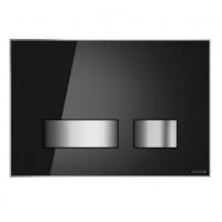 Кнопки для смыва Спускная кнопка CERSANIT Movi (черное стекло)