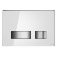 Кнопки для смыва Спускная кнопка CERSANIT Movi (белое стекло)