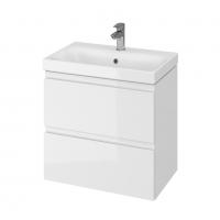 Мебель для ванной комнаты Шкафчик с умывальником CERSANIT Moduo Slim 60 (В04) - белый