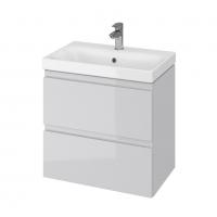 Мебель для ванной комнаты Шкафчик с умывальником CERSANIT Moduo Slim 60 (В05) - серый