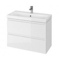 Мебель для ванной комнаты Шкафчик с умывальником CERSANIT Moduo Slim 80 (В06) - белый
