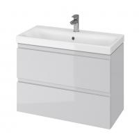 Мебель для ванной комнаты Шкафчик с умывальником CERSANIT Moduo Slim 80 (В07) - серый