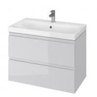 Мебель для ванной комнаты Шкафчик с умывальником CERSANIT Moduo 80 (B15) - серый