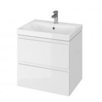 Мебель для ванной комнаты Шкафчик с умывальником CERSANIT Moduo 60 (B12) - белый