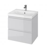 Мебель для ванной комнаты Шкафчик с умывальником CERSANIT Moduo 60 (B13) - серый