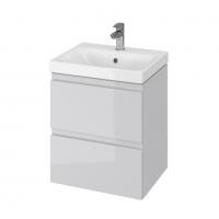 Мебель для ванной комнаты Шкафчик с умывальником CERSANIT Moduo 50 (B11) - серый