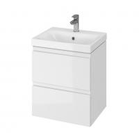 Мебель для ванной комнаты Шкафчик с умывальником CERSANIT Moduo 50 (B10) - белый