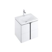 Мебель для ванной комнаты Шкафчик под умывальник RAVAK SD Balance 50х46,5 (белый/графит)