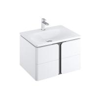 Мебель для ванной комнаты Шкафчик под умывальник RAVAK SD Balance 80х46,5 (белый/графит)