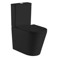 Унитазы Компакт VOLLE Nemo Black Rimless 3/4,5 л с крышкой Slim Soft Close