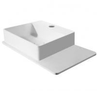 Умывальники / Раковины Умывальник VOLLE 58х37 с полочкой (Solid surface)