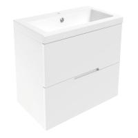 Мебель для ванной комнаты Шкафчик с умывальником VOLLE Aiva 60 (Белый)