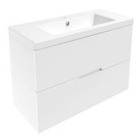 Мебель для ванной комнаты Шкафчик с умывальником VOLLE Aiva 80 (Белый)