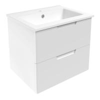 Мебель для ванной комнаты Шкафчик с умывальником VOLLE Libra 60 (Белый)