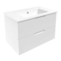 Мебель для ванной комнаты Шкафчик с умывальником VOLLE Libra 80 (Белый)