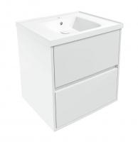 Мебель для ванной комнаты Шкафчик с умывальником VOLLE Teo 65 (Белый)