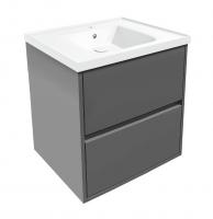 Мебель для ванной комнаты Шкафчик с умывальником VOLLE Teo 65 (Серый)