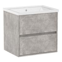 Мебель для ванной комнаты Шкафчик с умывальником VOLLE Teo 65 (Бетон)