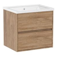 Мебель для ванной комнаты Шкафчик с умывальником VOLLE Teo 65 (Дуб)