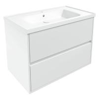 Мебель для ванной комнаты Шкафчик с умывальником VOLLE Teo 80 (Белый)
