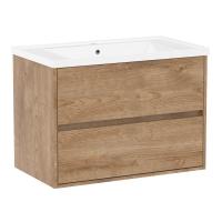 Мебель для ванной комнаты Шкафчик с умывальником VOLLE Teo 80 (Дуб)