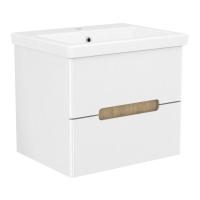 Мебель для ванной комнаты Шкафчик с умывальником VOLLE Puerta 60 - 2 ящика (Белый)