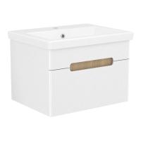 Мебель для ванной комнаты Шкафчик с умывальником VOLLE Puerta 60 - 1 ящик (Белый)
