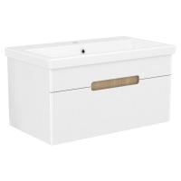 Мебель для ванной комнаты Шкафчик с умывальником VOLLE Puerta 80 - 1 ящик (Белый)