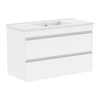 Мебель для ванной комнаты Шкафчик с умывальником VOLLE Fiesta 100 (Белый)
