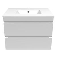 Мебель для ванной комнаты Шкафчик с умывальником VOLLE Fiesta 80 (Белый)