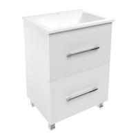 Мебель для ванной комнаты Шкафчик с умывальником VOLLE Nemo 60 (Белый)