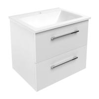 Мебель для ванной комнаты Шкафчик с умывальником VOLLE Nemo 60 (Белый) - подвесной