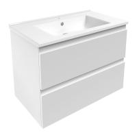 Мебель для ванной комнаты Шкафчик с умывальником VOLLE Leon 80 (Белый)