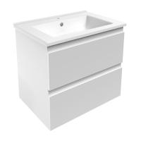 Мебель для ванной комнаты Шкафчик с умывальником VOLLE Leon 65 (Белый)