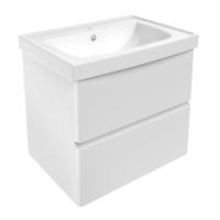 Мебель для ванной комнаты Шкафчик с умывальником VOLLE Oliva 65 (Белый)