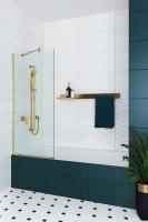 Шторки для ванной Шторка для ванны VELINO Anima Gold - 60 (Прозрачный)