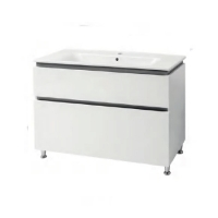 Мебель для ванной комнаты Шкафчик с умывальником ЮВВИС Этна 90 ТНБ-2 Д серый
