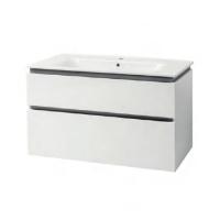 Мебель для ванной комнаты Шкафчик с умывальником ЮВВИС Этна 90 ТПБ-2 Д серый