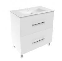 Мебель для ванной комнаты Шкафчик с умывальником VOLLE Nemo 80 (Белый)