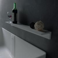 Аксессуары для ванной комнаты Полка для ванны VOLLE каменная (Solid surface) 18-40-113