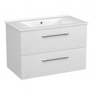 Мебель для ванной комнаты Шкафчик с умывальником VOLLE Nemo 80 (Белый) - подвесной