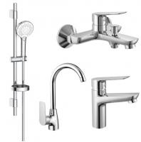 Смесители для ванны Набор смесителей IMPRESE Kit 30094 4в1