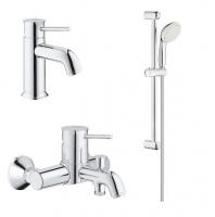 Смесители для ванны Набор смесителей GROHE BauClassic 123868S