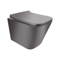 Унитазы Унитаз подвесной Q-TAP Tern Rimless с крышкой Slim SoftClose MATT BLACK