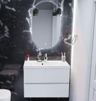 Мебель для ванной комнаты Шкафчик с умывальником FANCY MARBLE Rodos + Selina 800