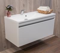 Мебель для ванной комнаты Шкафчик с умывальником FANCY MARBLE Aspen 1000 + Sacramento (Белый)