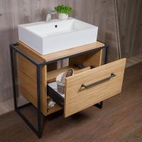 Мебель для ванной комнаты Шкафчик под умывальник FANCY MARBLE Loft на одну чашу (Дуб)